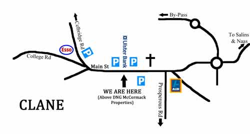 Clane Chiropractic Map